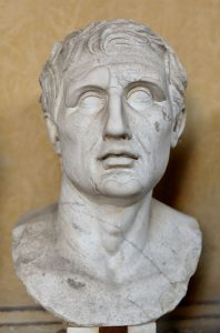 Bust of Menander. Marble, Roman copy of the Imperial era after a Greek original (ca. 343–291 BC). Public Domain