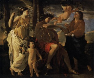 The Inspiration of a Poet - Nicolas Poussin