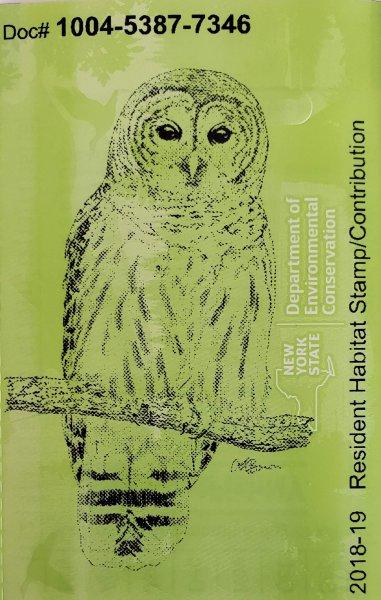 NYDEC Habitat 2018-19 Barred Owl